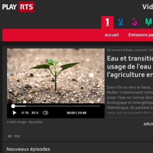 Interview Radio de l'Agropôle : l'eau dans l'agriculture